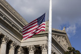 Half staff at the Archives
