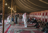 Inside a Bedouin tent