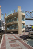 Decorative pedestrian overpass