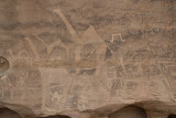 Camel rock carvings