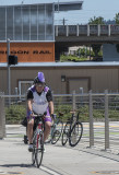 Purple cyclist