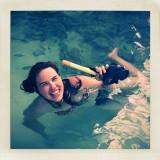 Scuba diving daughter.