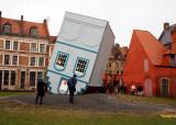 Downtown Lille; 'la maison tournée' (art exhibition)