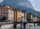 Grenoble downtown; by the river Isère.