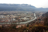 Grenoble; the Isère river crosses the town..