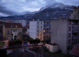 Grenoble; from the apartment where I spent some weeks; at dawn.