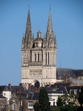 Angers; the cathedral Saint-Maurice (12th Century)