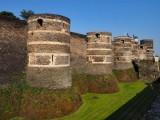 Angers Castle or the Chateau du Roi René (13th Century); outside view.