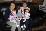 Uroma with her 3 great-grandkids