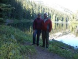 Meagan and Mark at Surprise Lake September 13, 2014