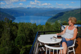 Enjoying the view over the Innvikfjord.........