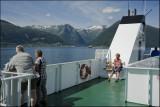 Eva on the ferry to Vangsnes.......