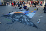 Sidewalk painting,Alexanderplatz.........