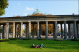 Fast asleep in Lustgarten.........