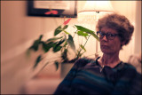 My wife Eva. Trying out the Lensbaby Composer on the X-T1.....