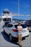 06 Eva and our car on the ferry Oppedal-Lavik.....