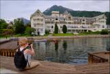 22. Eva in front of the beautiful old Kviknes Hotel,Balestrand....