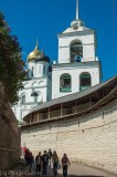 Inside Pskov's riverside Kremlin (fortress)