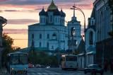 Sunset over Pskov