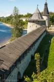 Pslov's Kremlin stands on the Velikaya River
