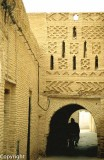 Distinctive brickwork of the old quarter of Tozeur, Ouled El-Hadef