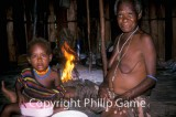 Displaced Dani tribespeople at Kwamki Lama, Timika, Indonesian Papua
