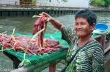 Woman butcher near Wat Mai Chong Lom