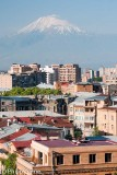 Mt Ararat looming up behind Yerevan