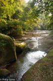 Streams trickle over sandstone beds