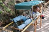 Sedan chair bearer asleep between jobs