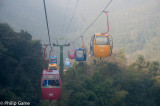 Aboard the Guanguang cable car
