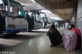 Time to move on... at Xiannanmen bus station