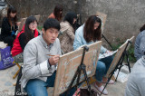Some of the ubiquitous art students