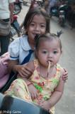Children, downtown Kratie, Cambodia