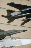Model Soviet fighter aircraft at the National Cold War Exhibition