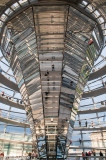 Inside the dome of the Bundestag (the rebuilt Reichstag)