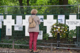 Unofficial memorial to murdered would-be escapees over the Berlin Wall