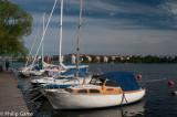 Yachts moored at Grondal