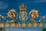 The royal crest at Drottningholm