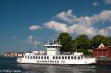 A Djurgarden ferry passing Skeppsholmen