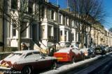 Terrace houses in winter, Hampstead
