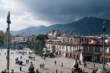 Looking out from the roof of the Jokhang Temple, Lhasa