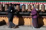 Working the prayer wheels, Lhasa
