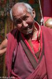 Genial monk at Tashilhumpo, Shigatse, Tibet