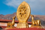 Golden roof ornaments of the Jokhang Temple