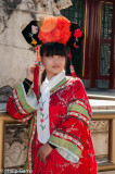 Posing in imperial court costume, Summer Palace