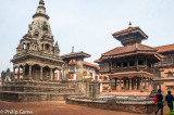 Durbar Square, a mixture of Hindu and Buddhist temples