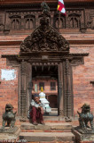 Entrance of a compound on Dattareya Sq