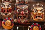 Demonic masks displayed for sale