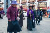 Pilgrims on the Barkhor circuit